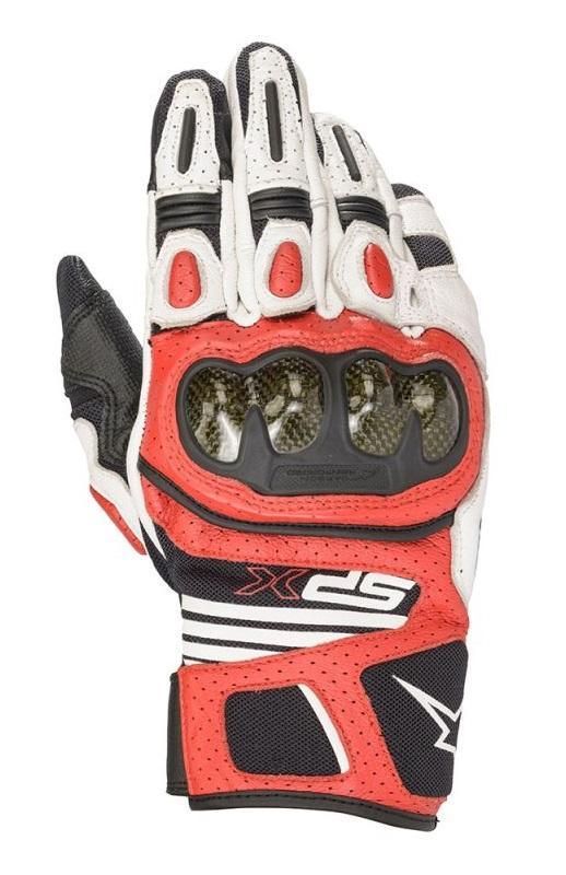 Alpinestars SP X Air Carbon V2 Handskar Vit/Svart/Röd