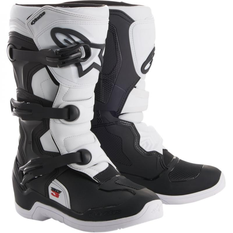 Alpinestars Tech 3s Barn Crosstövel Svart/Vit