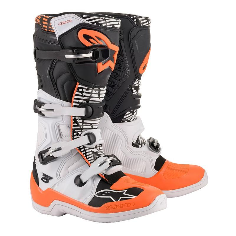 Alpinestars Tech 5 Crosstövlar Vit/Svart/Fluo-Orange