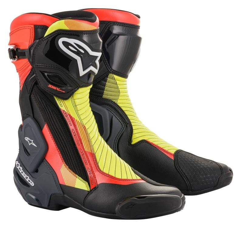 Alpinestars SMX Plus V2 Gore-Tex® Stövel Svart/Fluo-Gul/Vit