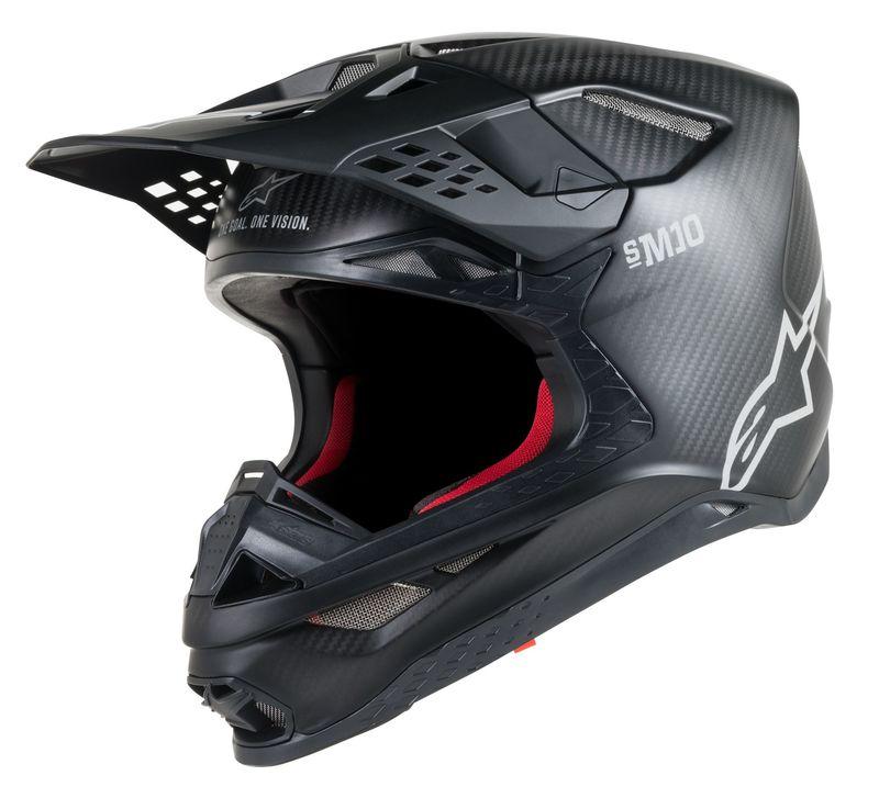 Alpinestars Supertech M10 Crosshjälm Svart/Carbon
