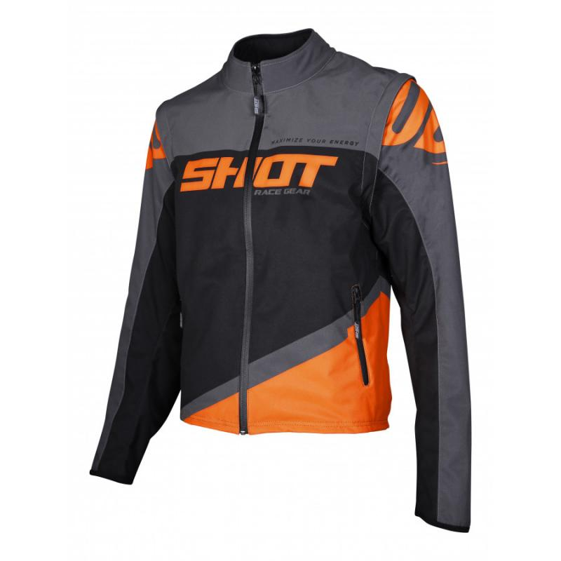 Shot Softshell Lite Endurojacka Grå/Neon-Orange