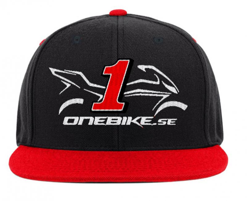 OneBike Snapback Svart/Röd Keps