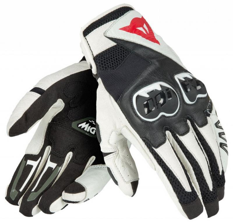 Dainese Mig C2 Handske Vit/Svart