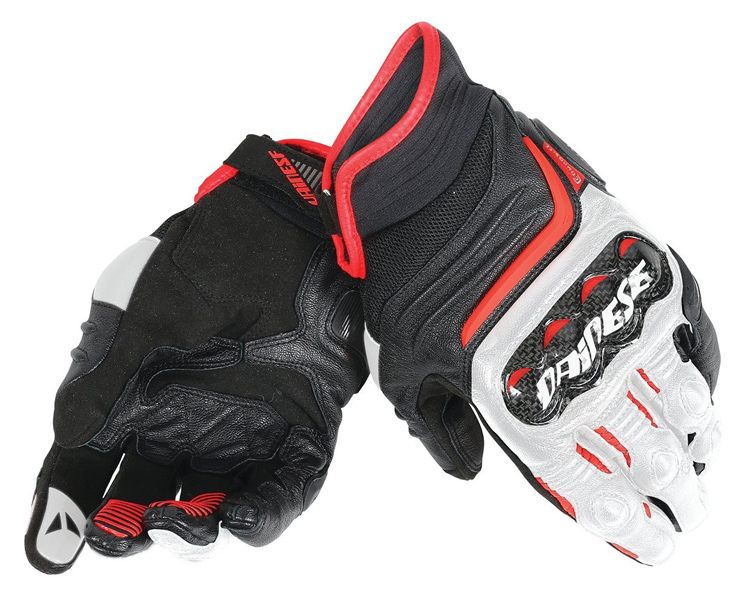 Dainese Carbon D1 Handske Svart/Vit/Röd