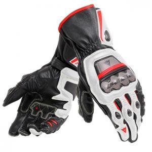 Dainese Full Metal 6 Handske Svart/Vit/Lava-Röd