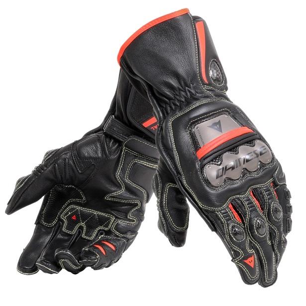 Dainese Full Metal 6 Handske Svart/Svart/Fluo-Röd