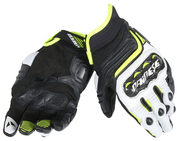 Dainese Carbon D1 Handske Svart/Vit/Fluo-Gul