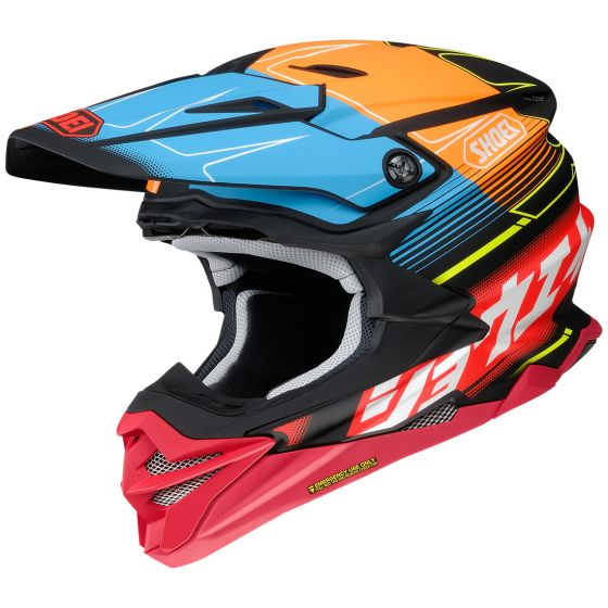 Shoei VFX-WR Zinger TC-10 Hjälm Röd/Orange/Blå