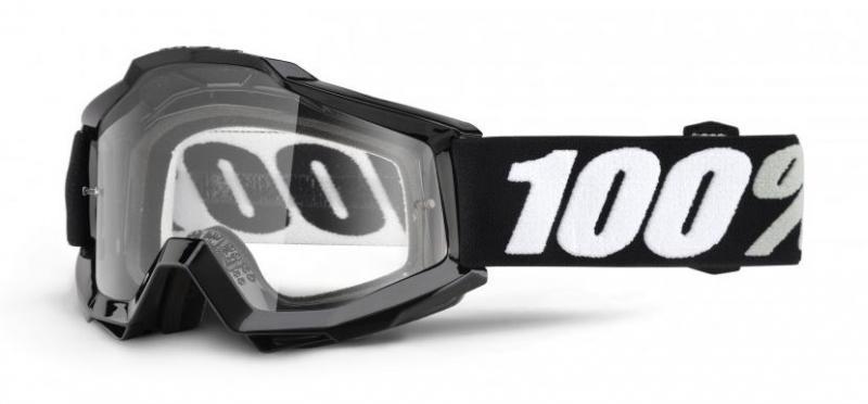 100% Accuri OTG Tornado Crossglasögon Svart, Klar Siktskiva