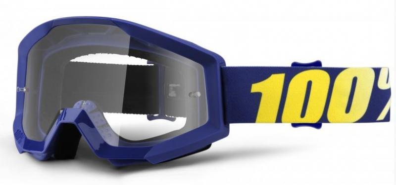 100% Strata Hope Crossglasögon Blå, Klar Siktskiva
