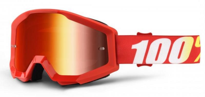 100% Strata Furnace Crossglasögon, Rödspegel Siktskiva