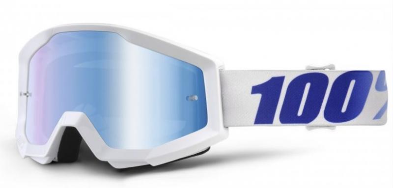 100% Strata Equinox Crossglasögon Vit, Blåspegel Siktskiva