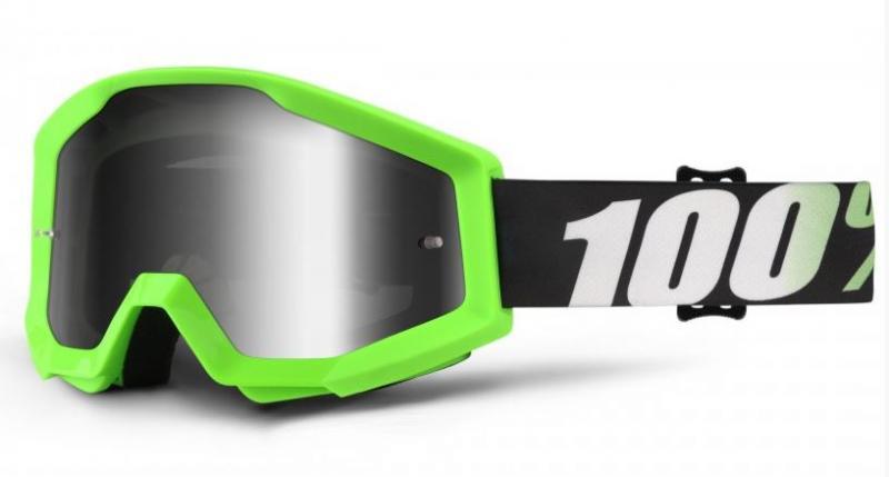 100% Strata Arkon Crossglasögon Grön, Silverspegel Siktskiva
