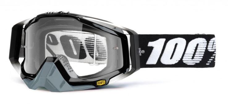 100% Racecraft Abyss Crossglasögon Svart, Klar Siktskiva