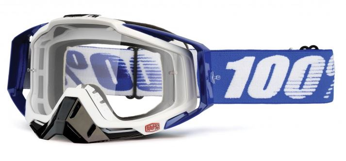 100% Racecraft Cobalt Crossglasögon Blå, Klar Siktskiva