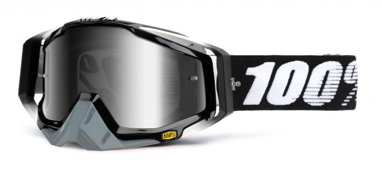100% Racecraft Abyss Crossglasögon Svart, Silverspegel Siktskiva