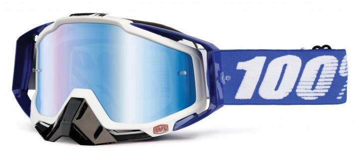 100% Racecraft Cobalt Crossglasögon Blå, Blåspegel Siktskiva