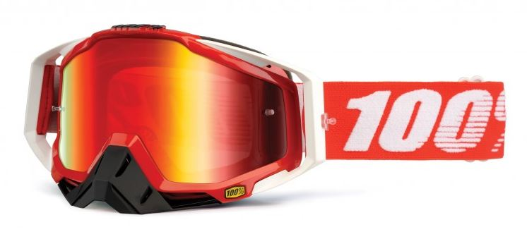 100% Racecraft Fire Crossglasögon Röd, Rödspegel Siktskiva