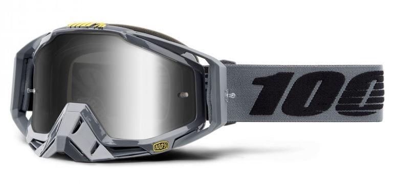 100% Racecraft Nardo Crossglasögon, Silverspegel Siktskiva