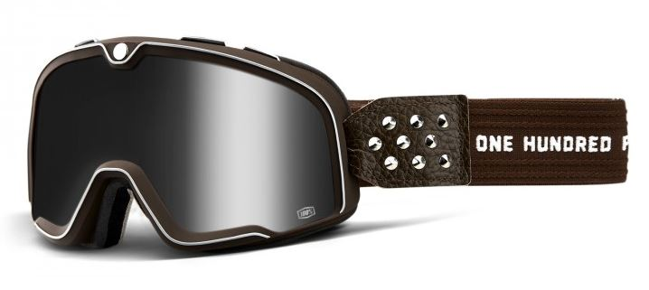 100% Barstow Garage Crossglasögon, Silverspegel Siktskiva