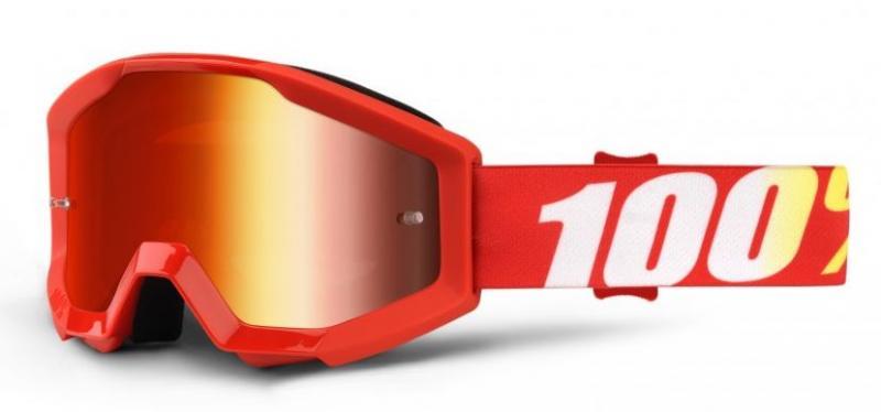 100% Strata Furnace Barn Crossglasögon, Rödspegel Siktskiva