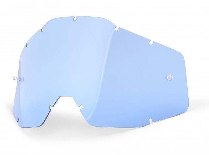 100% Enkel Siktskiva Blå