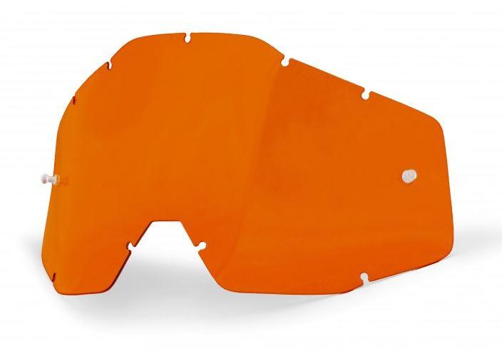 100% Enkel Siktskiva Orange