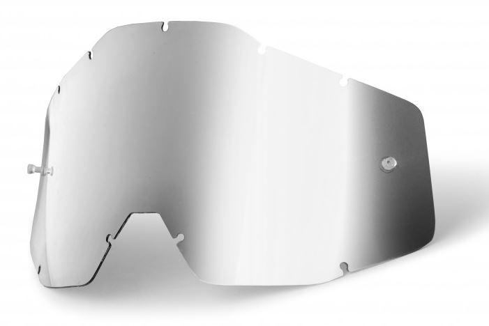 100% Enkel Siktskiva Silverspegel