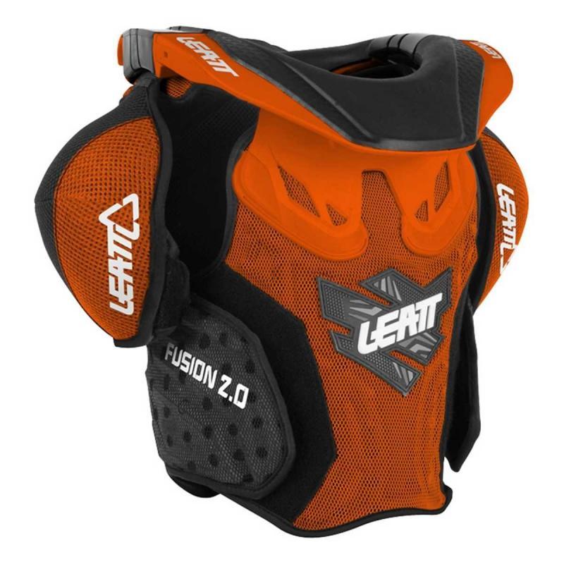Leatt Skyddsväst Fusion 2.0 Junior Orange/Svart