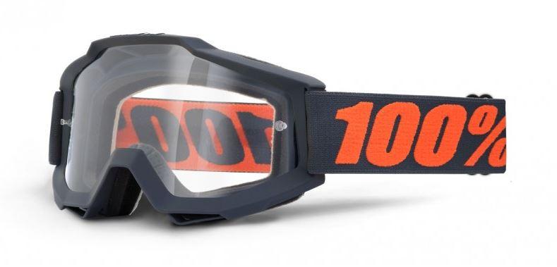 100% Accuri Gunmetal Crossglasögon, Klar Siktskiva