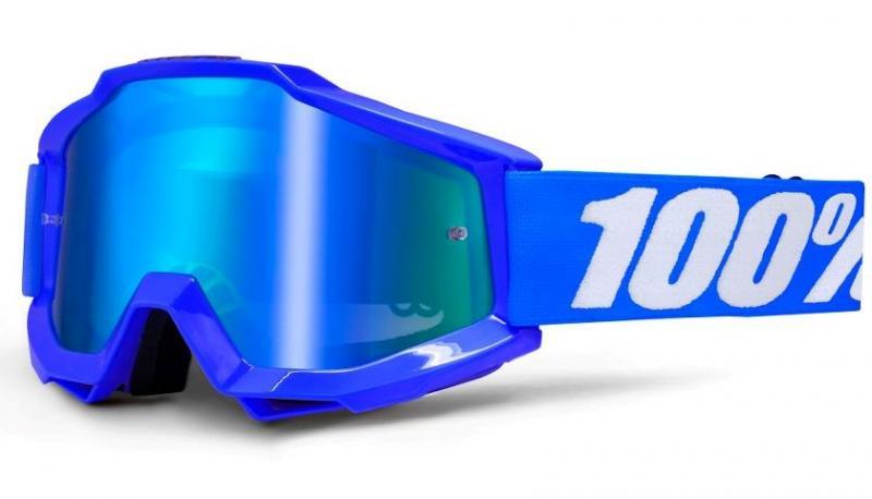 100% Accuri Reflex Blå Crossglasögon, Blåspegel Siktskiva