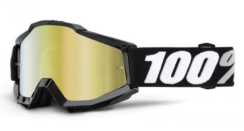 100% Accuri Tornado Crossglasögon, Guldspegel Siktskiva
