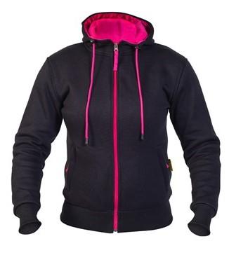 Twice Robin Dam Textil Hoodie Svart/Rosa