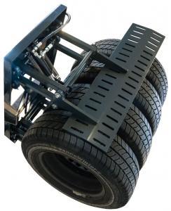 Klämaggregat Däck för personbilar och lätta transportbilar för 24V staplare