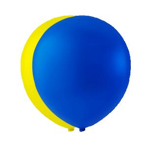 Latexballonger Gul & Blå