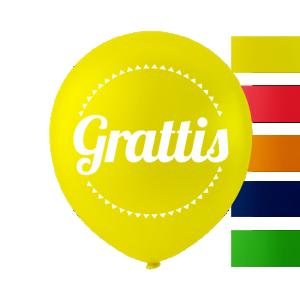Latexballonger gul grattis