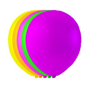 Latexballonger osorterade färger