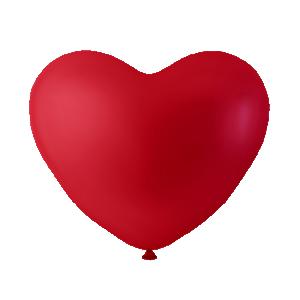 Hjärtformade ballonger Röd