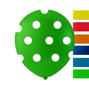 Latexballonger Prickiga Färg Mix