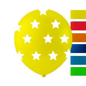 Latexballonger gul stjärna