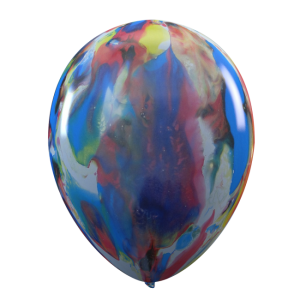 Latexballonger, Marmorerade flerfärgade 6-pack