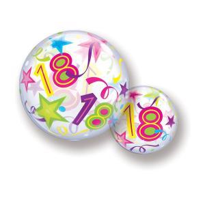 Bubbles ballong 18 år multifärgad