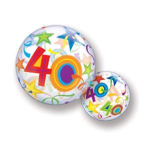 Bubbles ballong 40 år multifärgad