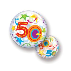 Bubbles ballong 50 år multifärgad