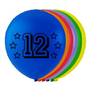 Latexballonger med siffran 12