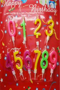 Tårtljus siffror 0-9
