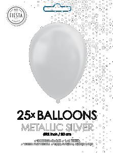 Latex ballonger metallic silver