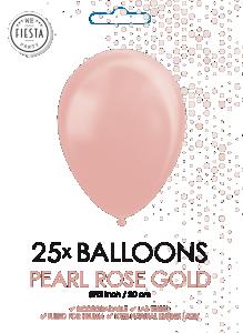 Latex ballonger pärlrosé guld