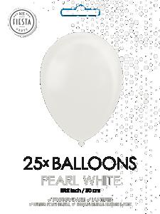 Latex ballonger pärlvit